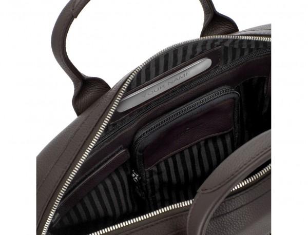 maletín de piel marrón personalizado
