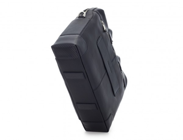 Leather briefbag in blue base