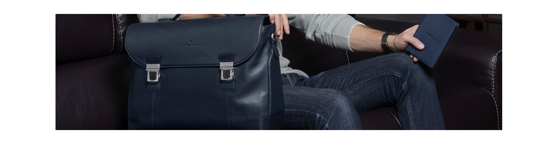 Leather Briefbags with Flap
