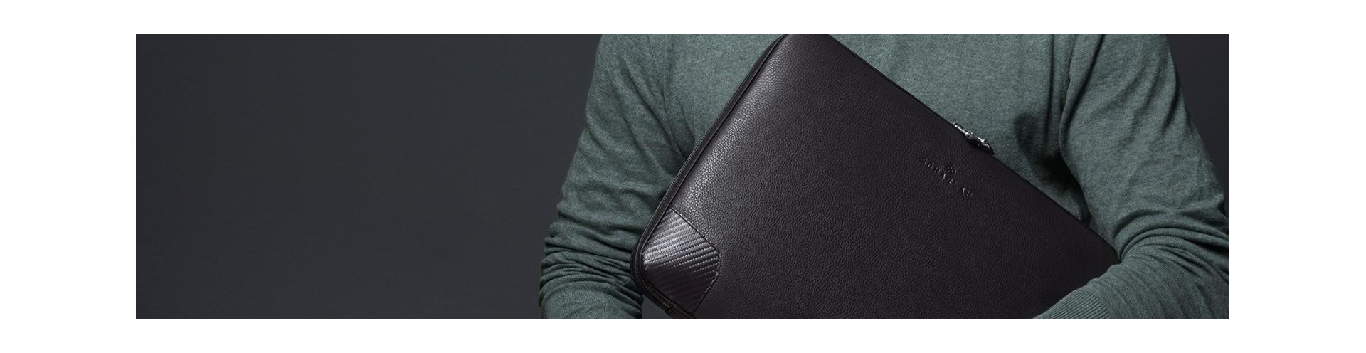 Leather Customizable Portafolios for Laptop