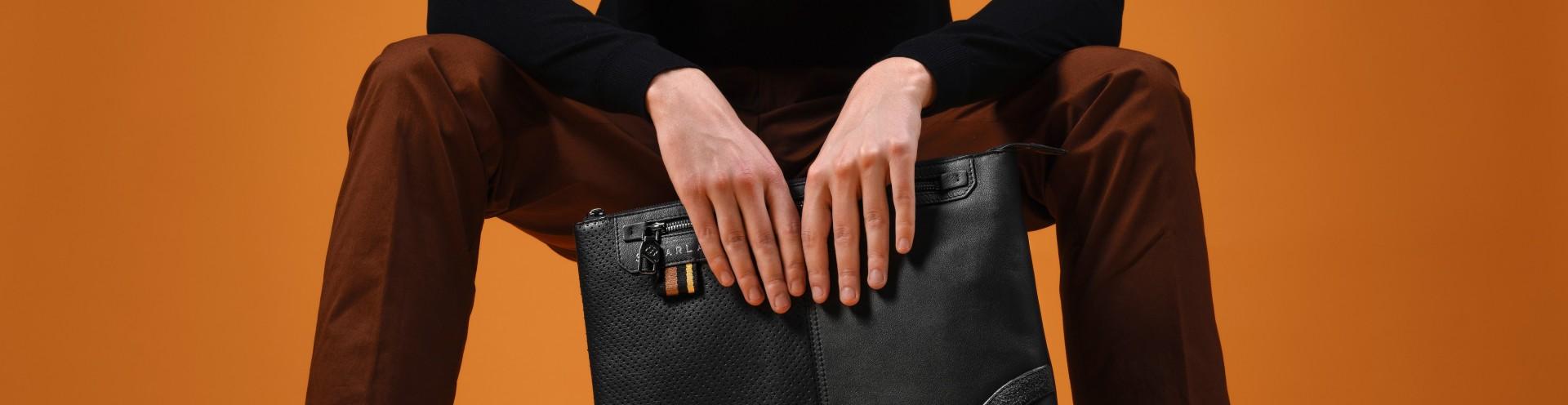 Portadocumenti per Laptop e Tablet di Pelle Personalizzabili per Uomo