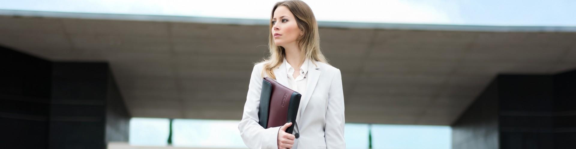 Women's Leather Laptop Sleeves Customizable