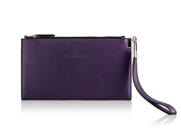 Leather Clutch Viola