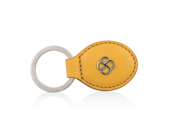 Keyring oval shape yellow