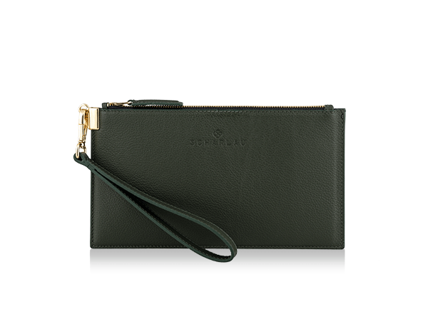 Leather Clutch Green -Gold Limited Edition-