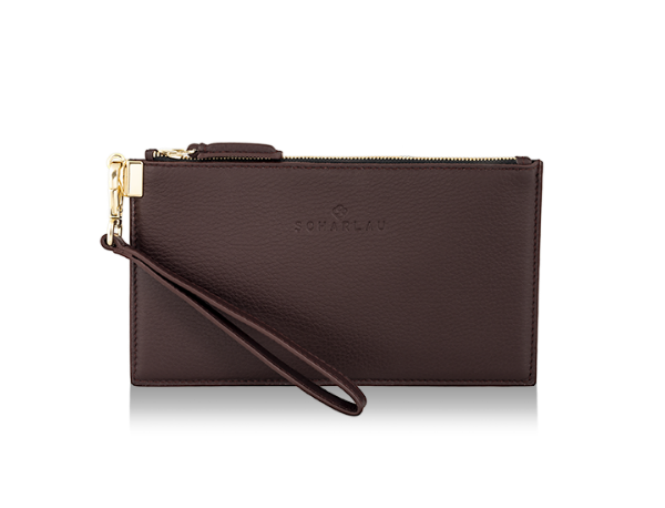 Leather Clutch Burgundy -Gold Limited Edition-
