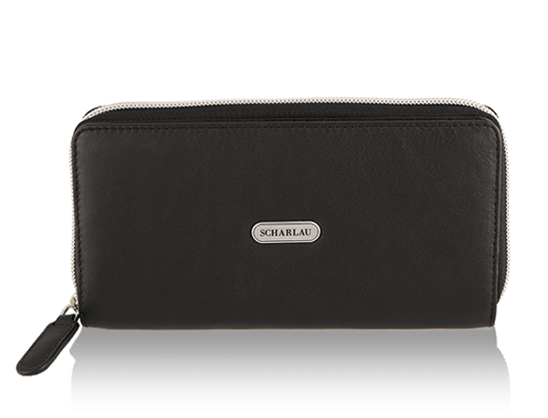 Wallet with zipper Black