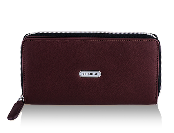 Wallet with zipper Burgundy