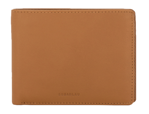 Horizontal wallet with coin pocket and 4 cc