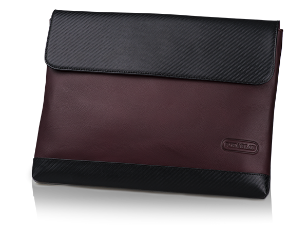 "Porta notebook con patta 13,3"" bordeaux"