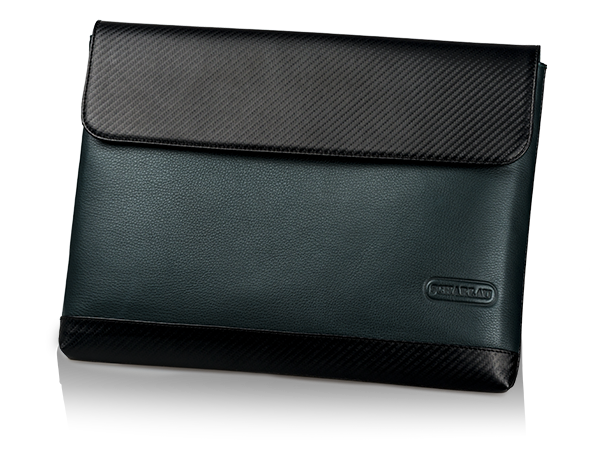 "Laptop Sleeve with Flap 13,3"" Dark Bottle Green"