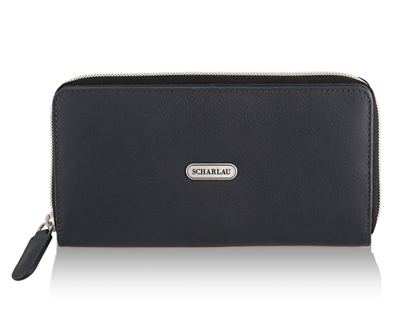 Wallet with zipper Navy Blue