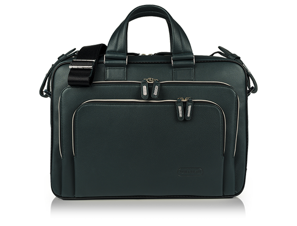 Two Handle Slim Brief Dark Bottle Green