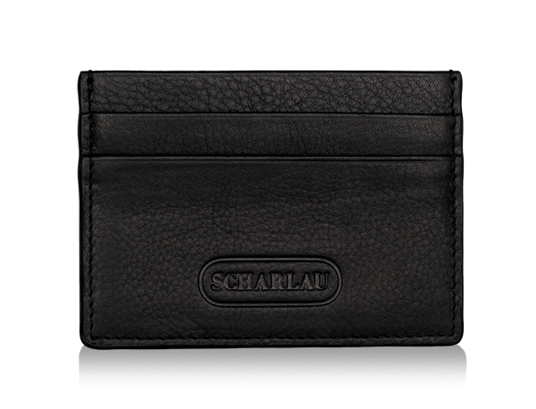 Card holder Black with logo embossed