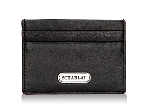 Card holder Black with red edges
